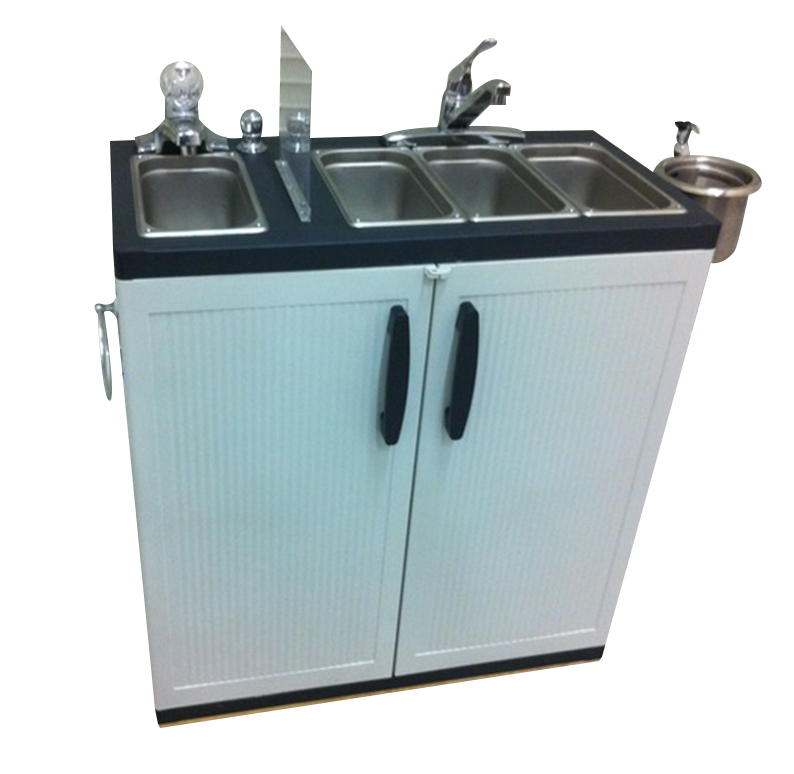 Portable 4 Compartment Sink.Dipping Well Portable Sink 4 Compartment