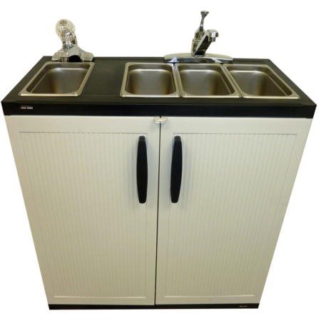 Portable 4 Compartment Sink