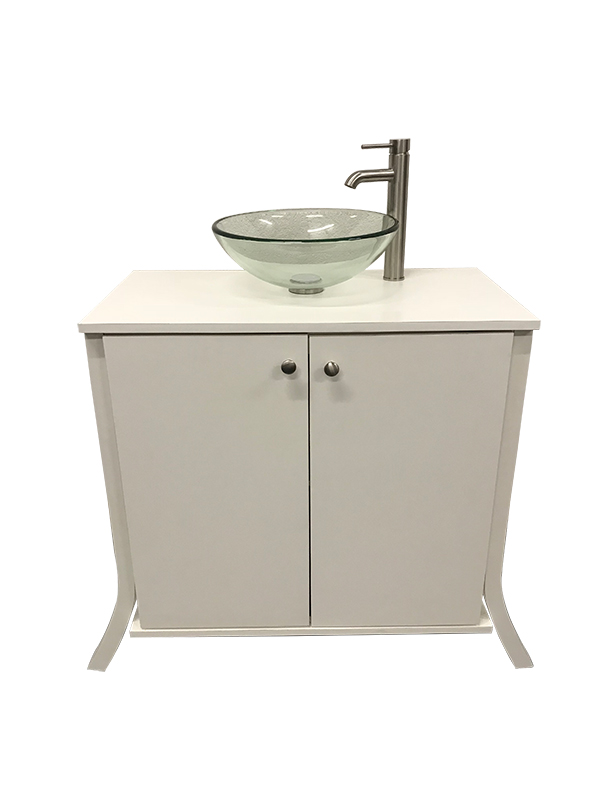 Glass Bowl Sink With Portable Bathroom Vanity Portable Sink Depot
