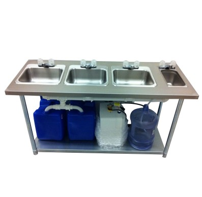 Portable Sink Stainless Steel 4 Compartment