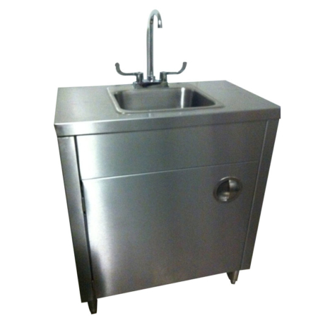 Portable Sink Stainless Steel Handwash Sink with Hot & Cold Water