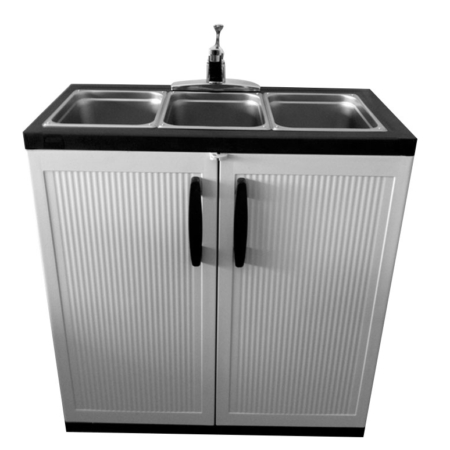 3 Compartment Portable Sink